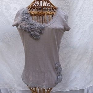 LC Lauren Conrad Top with Fabric Flowers